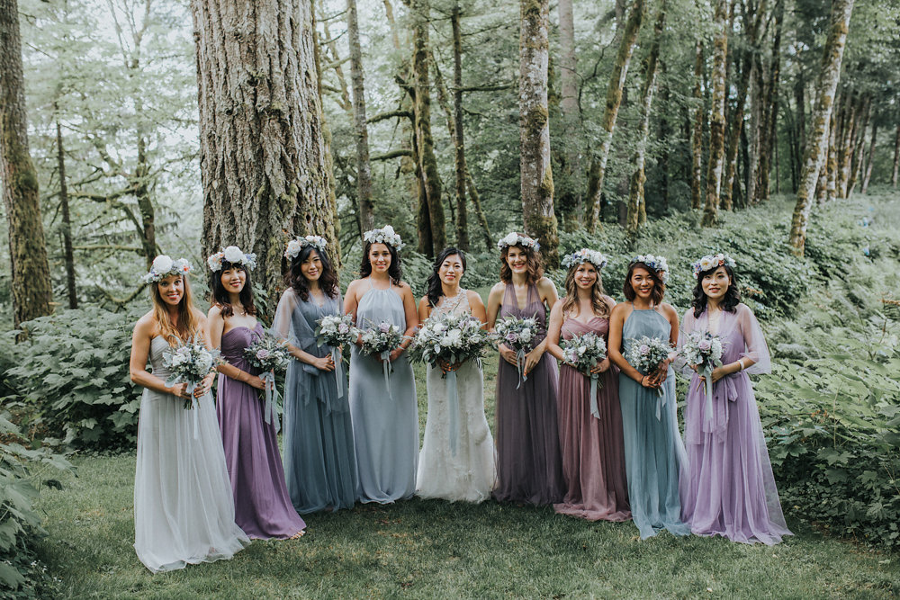 Bohemian Portland Forest Wedding Photo By Hazelwood Photo Http://ruffledblog.com/bohemian Portland Forest Wedding