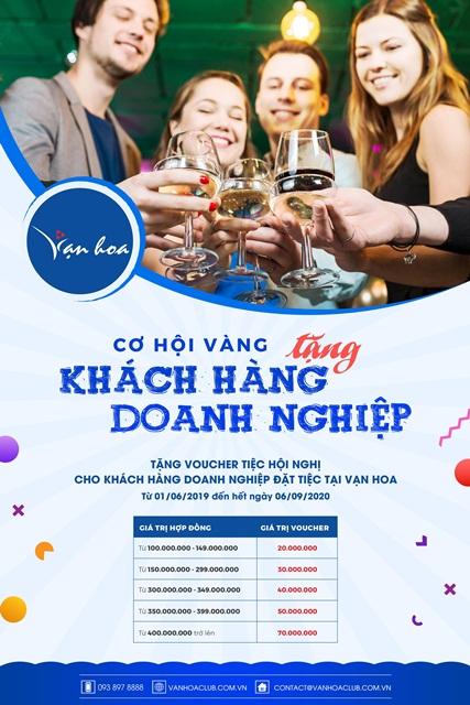 Uu Dai Phong Tiec, Tang Khach Hang Doanh Nghiep