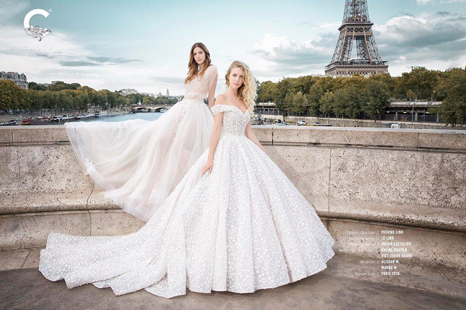 Hình ảnh mẫu váy cưới thuộc thương hiệu Calla Bridal