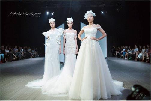 Hình ảnh một mẫu váy cưới thuộc thương hiệu Lek Chi Bridal