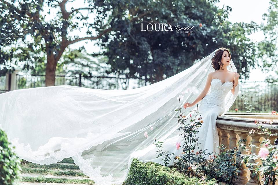 Hình ảnh một mẫu váy cưới thuộc thương hiệu Loura Bridal