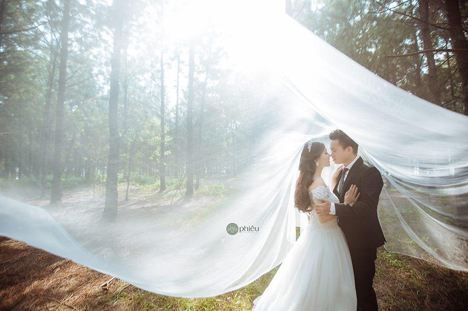 Hình ảnh một mẫu váy cưới thuộc thương hiệu Phiêu Media