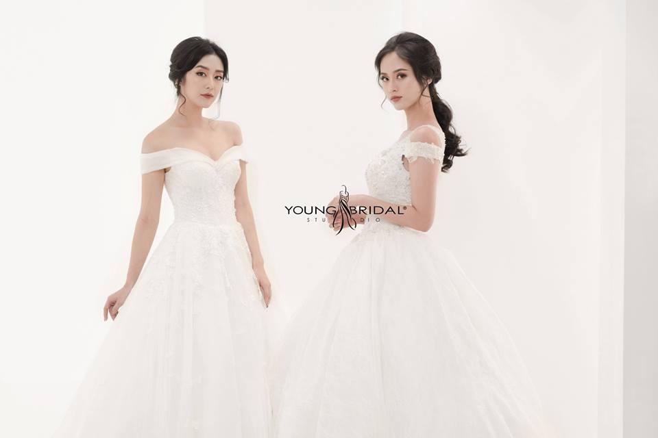 Hình ảnh một mẫu váy cưới thuộc thương hiệu Young Bridal