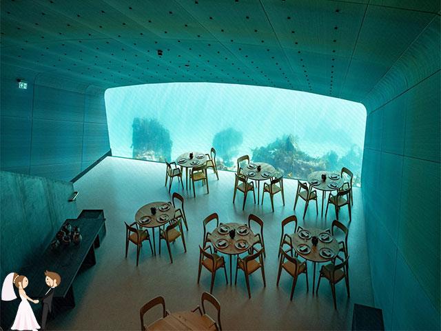 Hình ảnh minh họa nhà hàng tiệc cưới dưới nước
