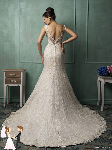 Hình ảnh minh họa váy cưới đuôi cá