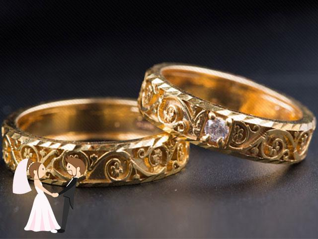 Nhẫn cưới tinh tế cho mộtđám cưới hoàn hảo. Xem nguồn ảnh.