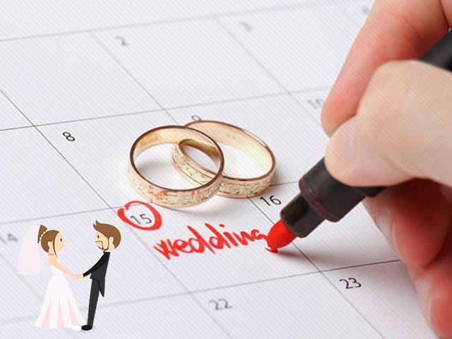 Ngày cưới đẹp nhất cho một đám cưới hoàn hảo. Xem nguồn ảnh.