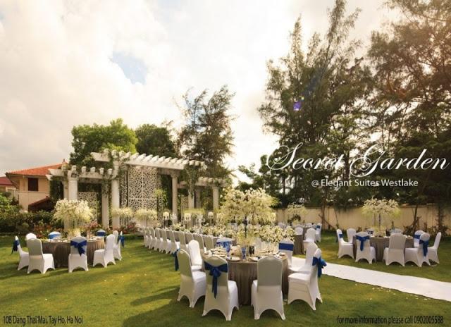 Khu vực sân vườn của Elegant Suites Westlake