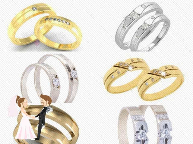 Hình ảnh minh họa cho các mẫu nhẫn cưới đẹp