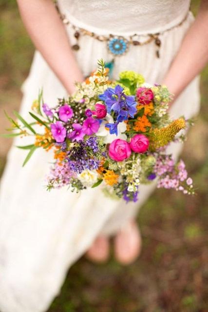Hình ảnh minh họa mẫu hoa cưới mùa hè đẹp cho cô dâu