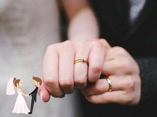 Hình ảnh minh họa vị trí đeo nhẫn cưới