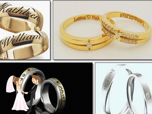 Hình ảnh minh họa cho khắc tên trên nhẫn cưới