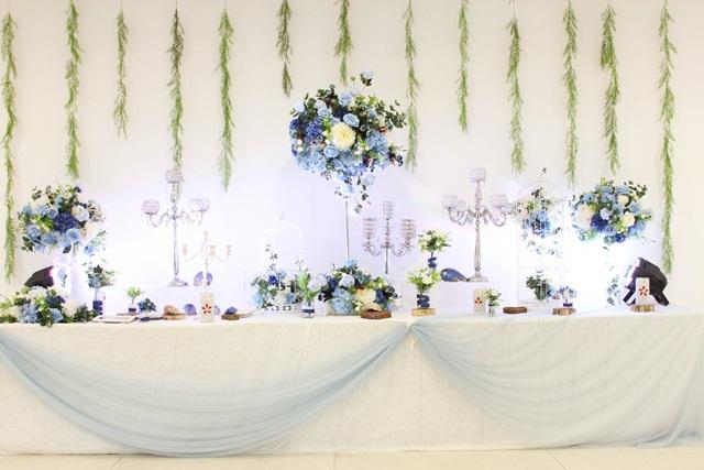 Hình ảnh minh họa trang trí bàn tiểu cảnh tiệc cưới