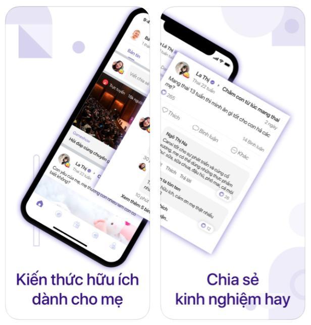 App dành cho mẹ bầu 2