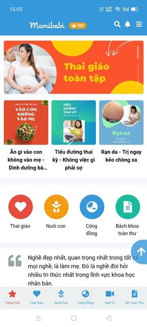 App dành cho mẹ bầu